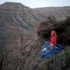 První noc jsme spali v jeskyňce nad vesničkou Casas de Ayagaures Alto