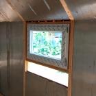 Usazené okno – pohled zevnitř