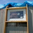 Usazené okno – pohled zvenčí