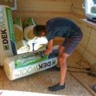 Na zateplení jsme použil 10 cm tlustou minerální vatu Dekwool pro pasivní domy